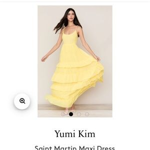 Yellow maxi dress - xs